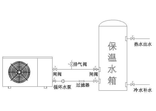 空气能热水器安装图纸
